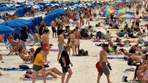 Australians crowd Bondi Beach despite restrictions, social distancing - beach